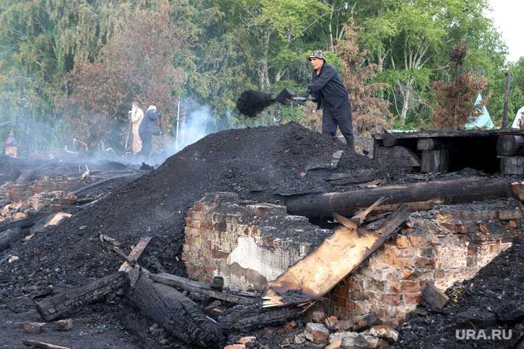 пожар частный дом бызово дети